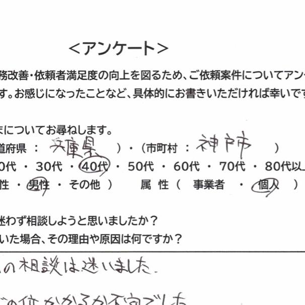 神戸市 40代 男性