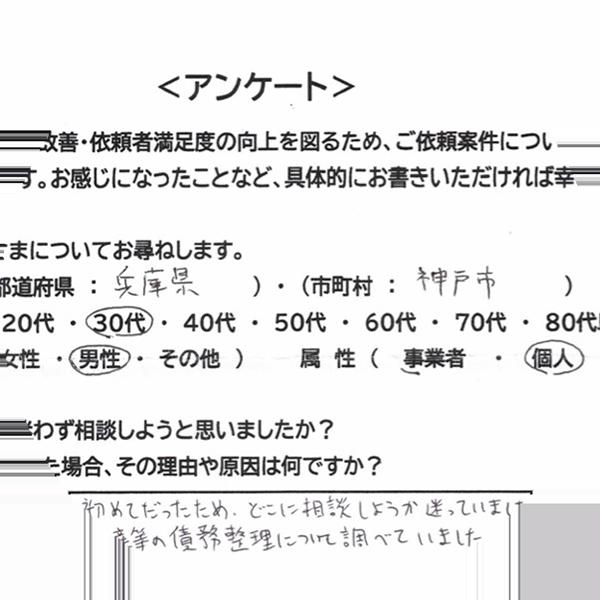 神戸市 30代 男性